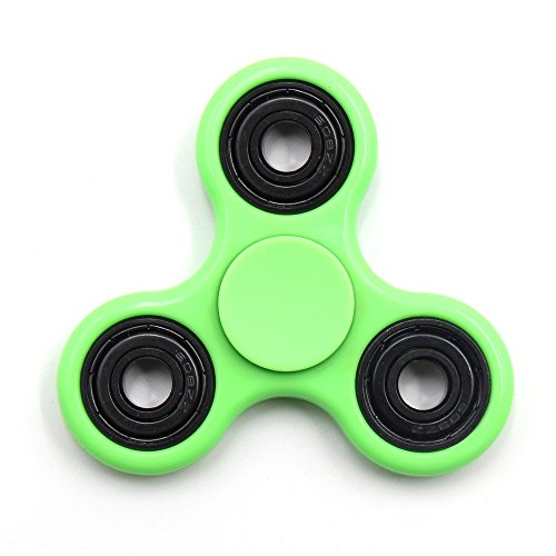 Yeahbeer Hand Fidget Spinner Toy Stress Reducer And Perfect For ADD ADHD Finger Work Ultra Fast Bearings Green With Black