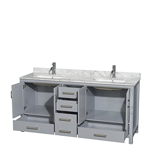 Wyndham Collection Sheffield 72 Double Bathroom Vanity In