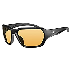 Ryders Eyewear FACE Cycling Sunglasses with Orange Photochromic Tint Changing Lenses, Black