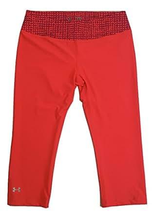 Under Armour Women's UA Favorite Fleece Capri Pink Orange (Medium, Pink Orange)