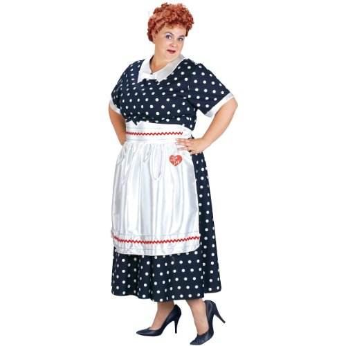 Lucy Poka Dot Dress Adult Costume - Plus Size 1X/2X