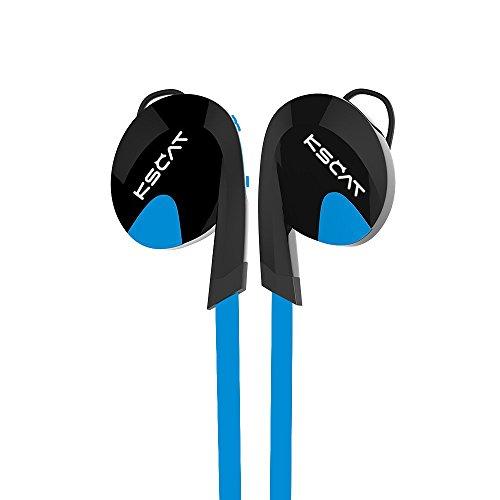 KSCAT Nice 17 Auriculares inalámbricos, Bluetooth 4.1, perfectos para hacer deporte, estéreo, con micrófono manos libres, compatibles con iPhone, iPad, ordenadores portátil azul