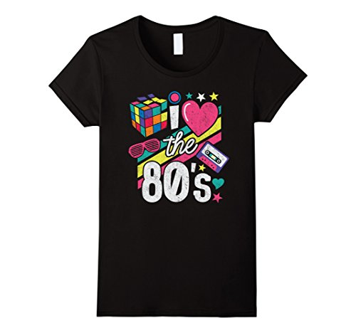 Classic 80s Clothing (Womens I Love The 80s Shirt 80s Clothes for Women and Men Large Black)