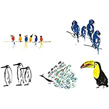 Birthday Cards with Birds also for Get Well Soon Anniversary Sorry Penguin Peacock Toucan Hyacinth Macaw Singing Birds (pack of 10) from GayaCards