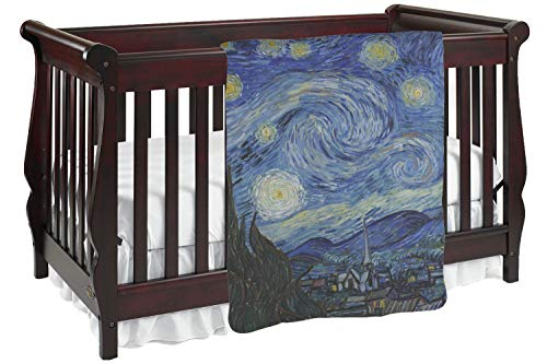 The Starry Night (Van Gogh 1889) Baby Blanket (Double Sided)