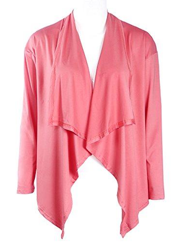 Rosa Casual Lunghe Cappotti Irregolare Colore Cardigan Donna Elegante Maglieria Coat Solido Maniche Tunica Cappotto Primavera Di aqfZU