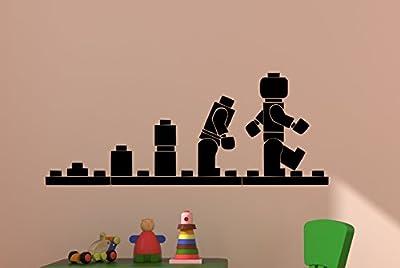 Lego Man Evolution Vinyl Wall Decal Boy Bedroom Decor Girls Room Sticker Baby Nursery Toddler Playroom Toy Star War Movie Lego