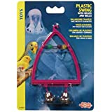 Living World Plastic Swing with Bells Bird Toy