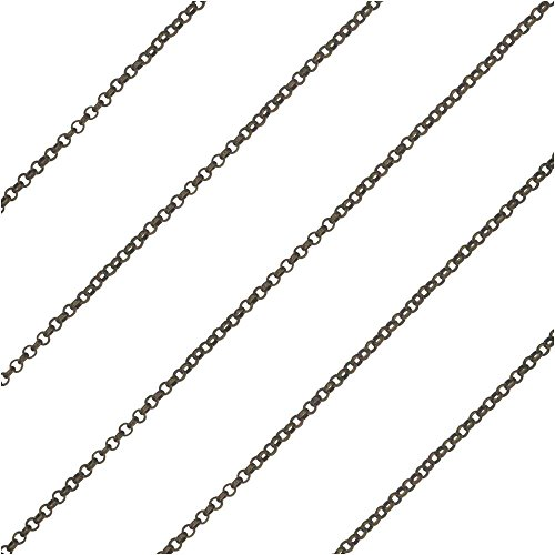 - Bulk Chain, with 1mm Rolo Style Soldered Links, Sold by The Foot, Antiqued Brass