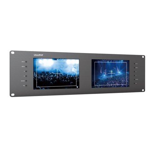 "Lilliput Rm-7028s Dual 7"" 3ru Rack Monitors with Hdmi Ypbpr Tally Out 3g SDI"