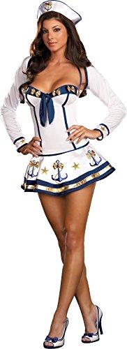 Dreamgirl Women's Making Waves Dress, White/Blue, 3X / ()