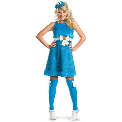 Cookie Monster Sassy Costume - Medium - Dress Size 8-10 (Sassy Cookie Monster Adult Costume)