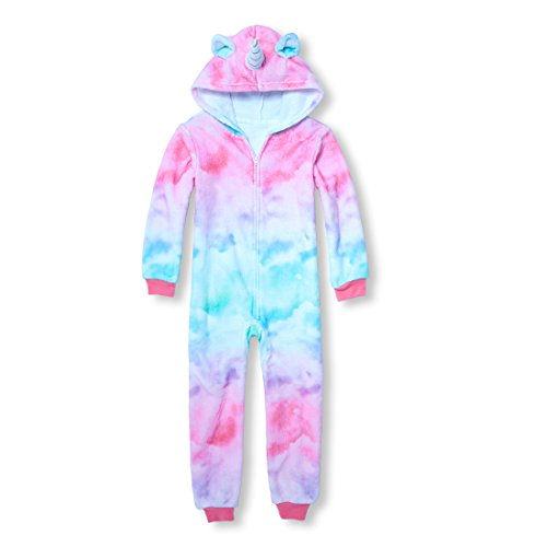 The Children's Place Big Girls' Animal Hooded Onesie, Cameo, XXL(16) by The Children's Place