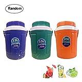 Aolvo Ice Bucket, 3.5L Large Ice Bucket Plastic Beverage Tub Cooler Bucket Ice Cube Bucket Maker Commercial Ice Bucket Lid & Handle, Color Random