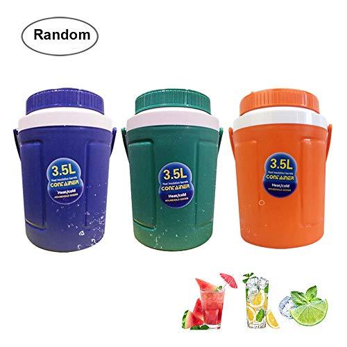 Aolvo Ice Bucket, 3.5L Large Ice Bucket Plastic Beverage Tub Cooler Bucket Ice Cube Bucket Maker Commercial Ice Bucket Lid & Handle, Color Random by Aolvo
