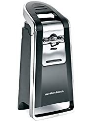Hamilton Beach 76607ZA Smooth Touch Can Opener, Black and Chrome