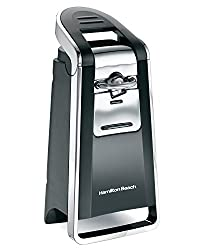 Hamilton Beach 76607 Smooth Touch Can Opener, Black & Chrome
