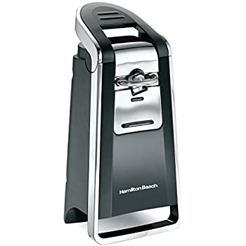 Hamilton Beach 76606ZA Smooth Touch Can Opener, Black and Chrome