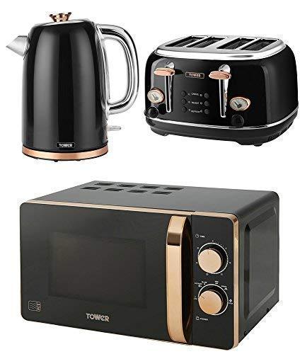 Home Furniture Diy Toasters Stainless Steel Black Rose Gold Tower 1630 W Bottega 4 Slice Toaster T20017 Bortexgroup Com