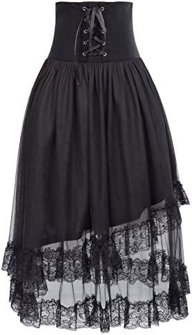 5a997d94ee Belle Poque Women's Steampunk Lolita Corset Style High Waist Multi-Layered  A-Line Skirt