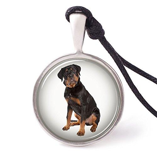 Rottweiler Pendant (Vietguild's Rottweiler Necklace Pendants Pewter Silver)