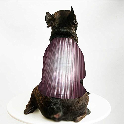 YOLIYANA Purple Stylish Pet Suit,Futuristic Digital Style Artistic
