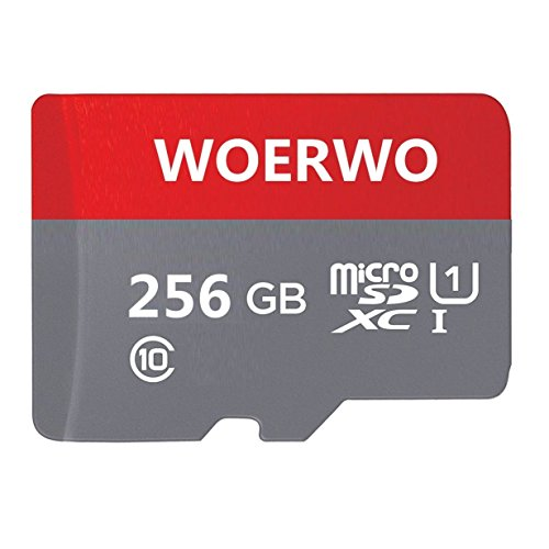 WOERWO 256GB Micro SD SDXC Memory Card High Speed Class 10 with Micro SD Adapter, Designed for Android Smartphones, Tablets And Other Micro SD Card Compatible. by WOERWO