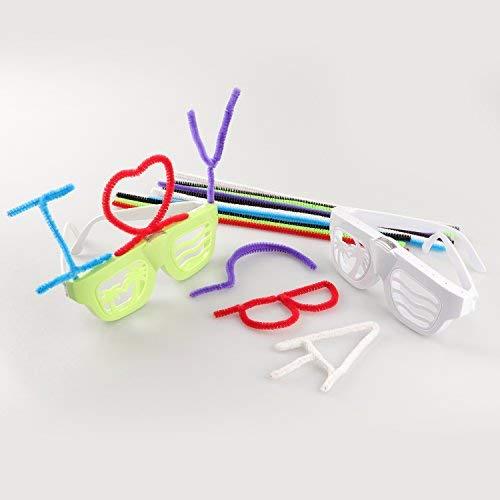 LED Light up Glasses DIY Party Glasses Eyeglasses for Kids Boys Girls Adults Birtyday Bar fancyglow