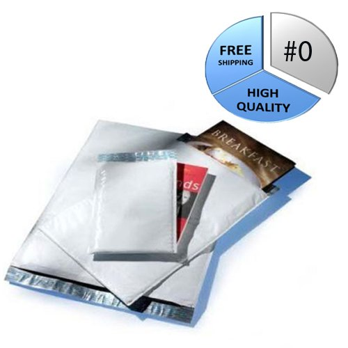 4500 #0 6.5x10 PolyAir Brand POLY BUBBLE MAILERS PADDED ENVELOPES #0 6.5''x10'' by PackagingSuppliesByMail