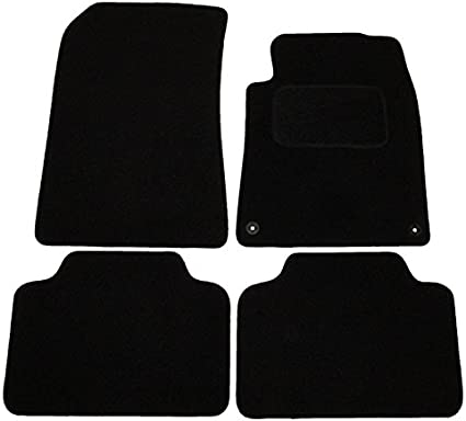 For Peugeot 407 Fully Tailored 4 Piece Black Car Mat Set