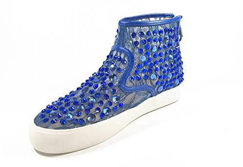 SARA LOPEZ , Damen Sneaker Mehrfarbig mehrfarbig 35 Kornblumenblau