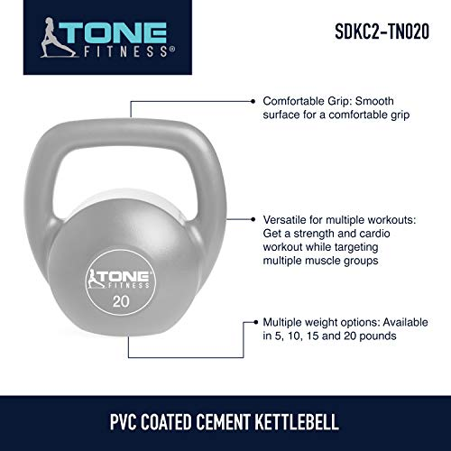 Tone Fitness SDKC2-TN020 Kettlebell, 20 lb by Tone Fitness (Image #5)