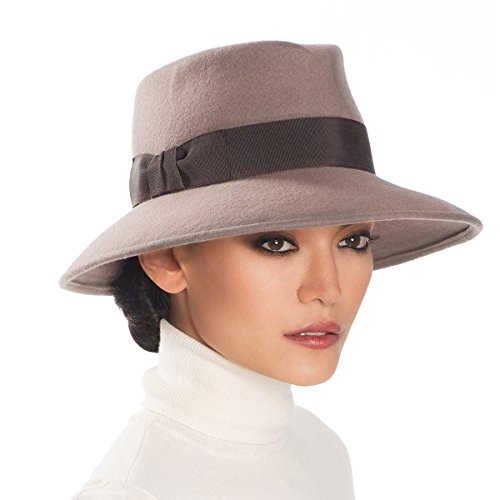 Eric Javits Luxury Fashion Designer Women's Headwear Hat - Wool Kim - Taupe by Eric Javits