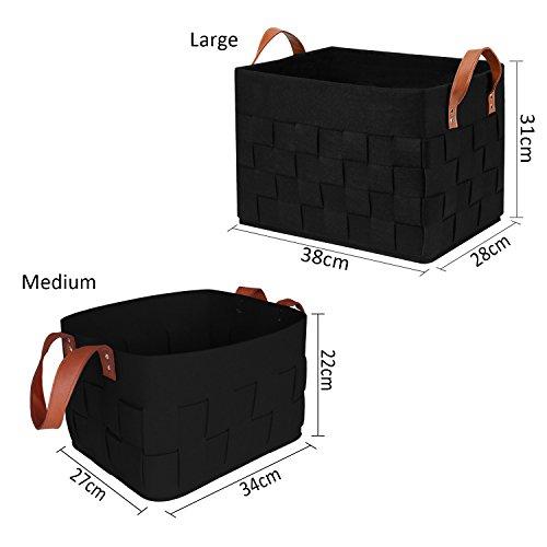 f7bddbdfbaf63 b M PoubelleFeutreFelt TM jouet ecirc tements eacute b produits pliable  eacute  stockage de blackTaille linge v ...