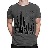 SpiritForged Apparel Distressed USA Gun Flag Men's T-Shirt