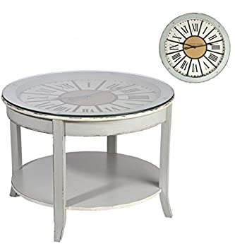 J Line Table Basse Ronde Horloge Amazon Fr Cuisine Maison