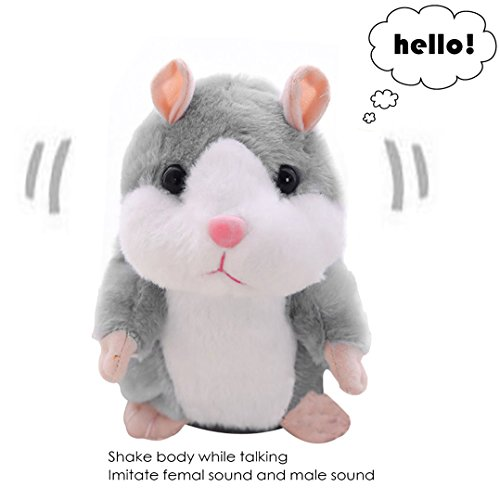 Talking Hamster Toys For Kids Girl Boy Friend,Plush Electronic Pet Repeat What You Say,Funny Singing Animals Operation Head Game Recordable Toys For Birthday,Trick-or-treaters,Hallowmas,Festival Custom Toys