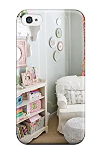 Best Iphone High Quality Case/ Cottage Style Girls Bedroom With Plate Collage On Wall Case Cover For Iphone 4/4s 3624204K49304386