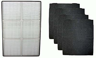 Replacement HEPA Air Purifier Filter & 4 Carbon Filters Fit Whirlpool AP250 & AP150 Part # 1183051K
