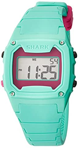 Freestyle Unisex 102281 Classic Green Case Digital Silicone Strap Watch (Freestyle Shark Green Watch)