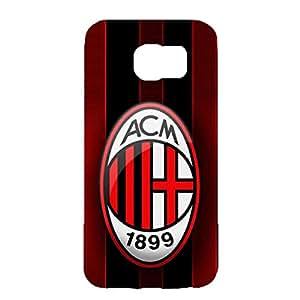 Associazione Calcio Milan Phone Case Customized Style 3D Hard Phone Case for Samsung Galaxy S6 AC Milan Logo