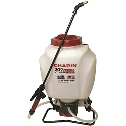 Chapin 63985 4-Gallon Wide Mouth 20v Battery Backpack Sprayer, Powered by Black & Decker