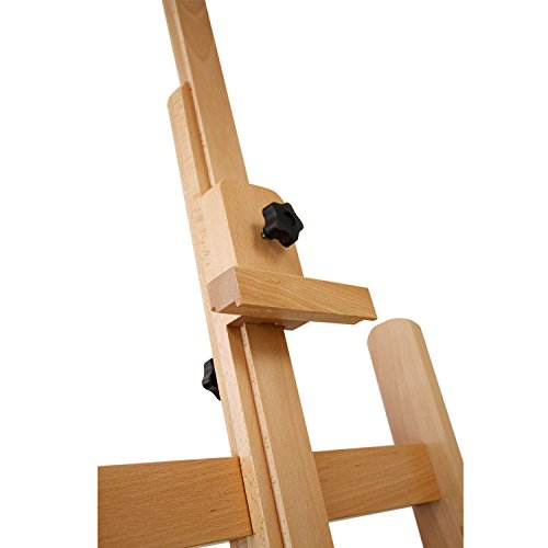 US Art Supply Malibu Extra Large H-Frame Deluxe Adjustable Wood Studio Easel with Tilt and Caster Wheels by US Art Supply (Image #4)