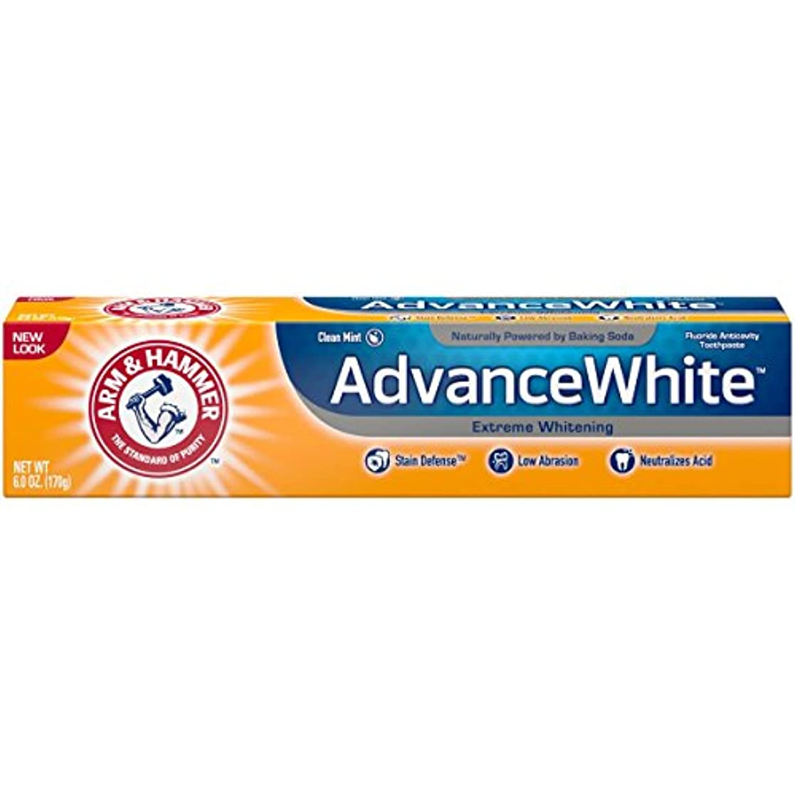 ターゲットピカソ四分円Arm & Hammer アドバンスホワイトエクストリームホワイトニングで染色防衛の歯磨き粉、6オズ(3パック) 3パック