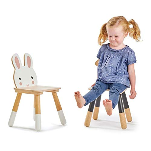 Made with Premium Materials and Craftsmanship for Children 3+ Forest Table and Chairs Collections Tender Leaf Toys Forest Bear Chair Adorable Kids Size Art Play Game Table and Chairs