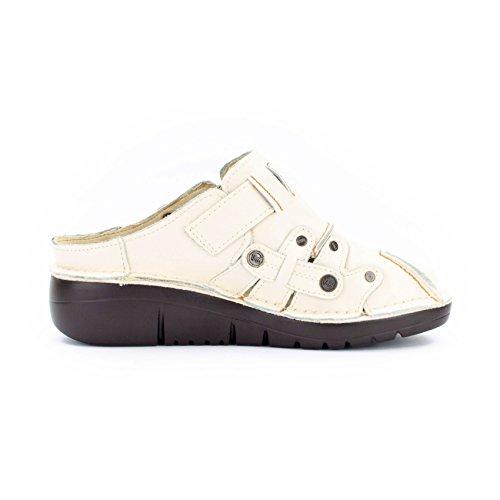 Crema Tma 8890 De Zapatos Piel Mujer Tacón Lisa Shoes xxvPAW8