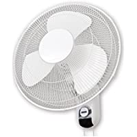 Sonic Breeze 16 Oscillating Wall Mount Fan 90 degree, 3-Speed, Low Noise