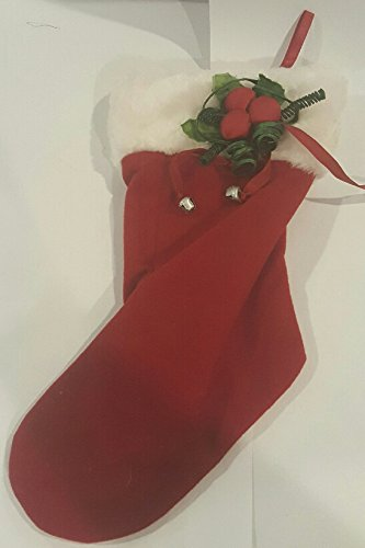 Jingle Stocking - Holly Berry Jingle Bell Christmas Stocking 11 Inch