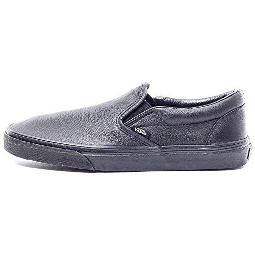 pelle Classic Uomo Da Basse Sneakers Nero Vans Slip Mono Premium On pFd0xq