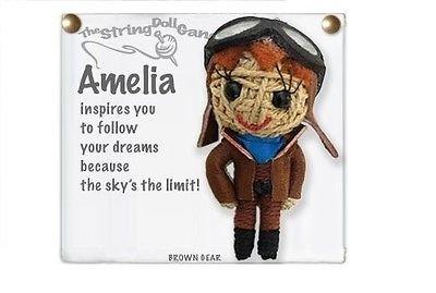 - Kamibashi Amelia Earhart Original String Doll Gang Keychain Toy